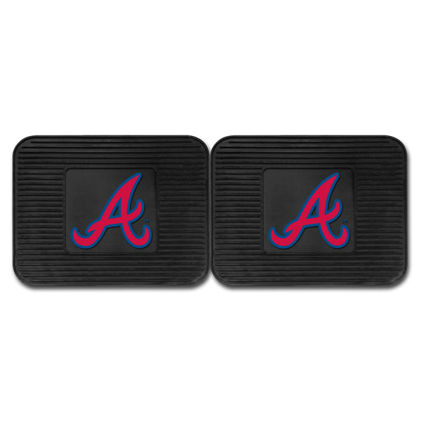 "MLB - Atlanta Braves Backseat Utility Mats 2 Pack 14""x17"" - FANMATS - Dropship Direct Wholesale"
