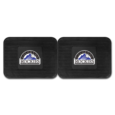 Colorado Rockies Backseat Utility Mats 2 Pack 14x17 - FANMATS - Dropship Direct Wholesale