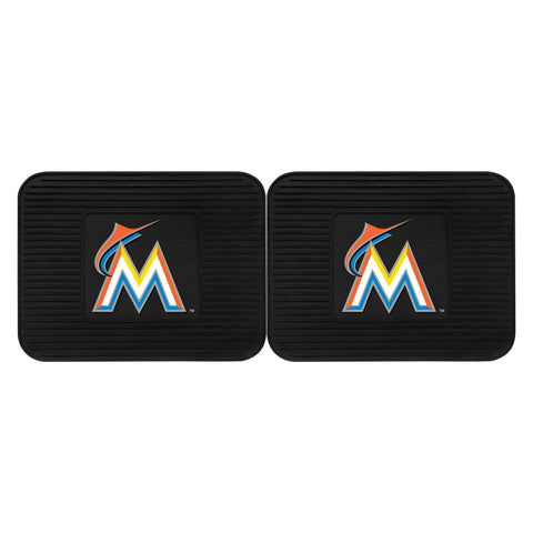 Miami Marlins Backseat Utility Mats 2 Pack 14x17 - FANMATS - Dropship Direct Wholesale