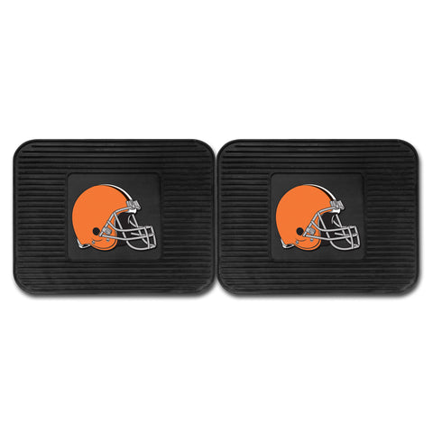Cleveland Browns Backseat Utility Mats 2 Pack 14x17 - FANMATS - Dropship Direct Wholesale