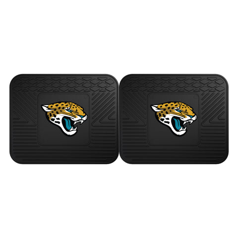 Jacksonville Jaguars Backseat Utility Mats 2 Pack 14x17 - FANMATS - Dropship Direct Wholesale
