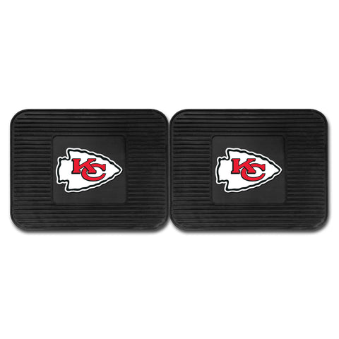 Kansas City Chiefs Backseat Utility Mats 2 Pack 14x17 - FANMATS - Dropship Direct Wholesale
