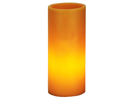 3 Inch W X 8 Inch H Poly Resin Amber Flat Top Candle Holder - Meyda - Dropship Direct Wholesale