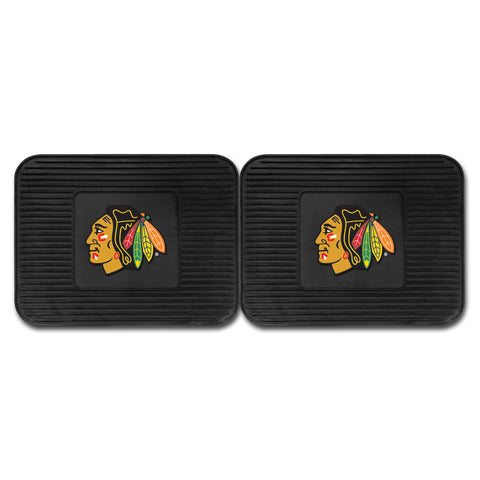 Chicago Blackhawks Backseat Utility Mats 2 Pack 14x17 - FANMATS - Dropship Direct Wholesale