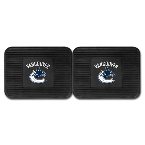 Vancouver Canucks Backseat Utility Mats 2 Pack 14x17 - FANMATS - Dropship Direct Wholesale