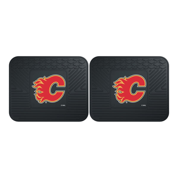 Calgary Flames Backseat Utility Mats 2 Pack 14x17 - FANMATS - Dropship Direct Wholesale