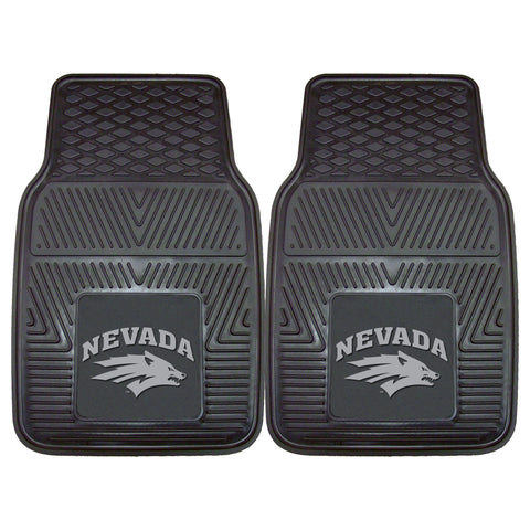 University of Nevada Heavy Duty 2-Piece Vinyl Car Mats 17x27 - FANMATS - Dropship Direct Wholesale