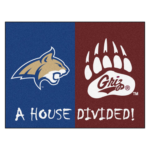 Montana - Montana State NCAA House Divided Rugs 34x45 - FANMATS - Dropship Direct Wholesale