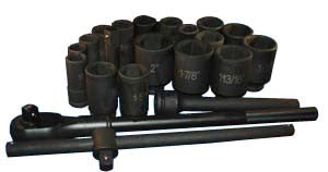 22 Piece 3/4-Inch Drive SAE Deep Impact Socket Set - ATD Tools - Dropship Direct Wholesale