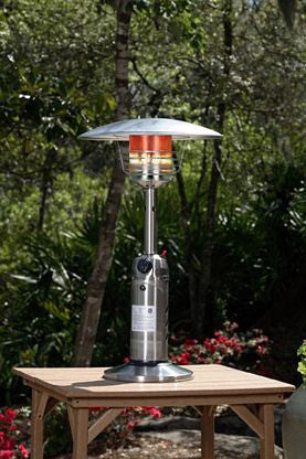 Fire Sense Stainless Steel Table Top Patio Heater - Fire Sense - Dropship Direct Wholesale