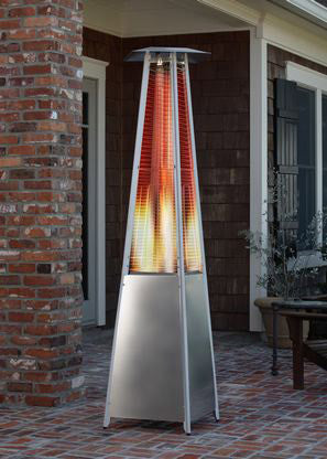 Fire Sense Stainless Steel Pyramid Flame Heater - Fire Sense - Dropship Direct Wholesale