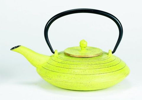 27 oz Celery and Gold Cast Iron Serendipity Teapot - Old Dutch - Dropship Direct Wholesale