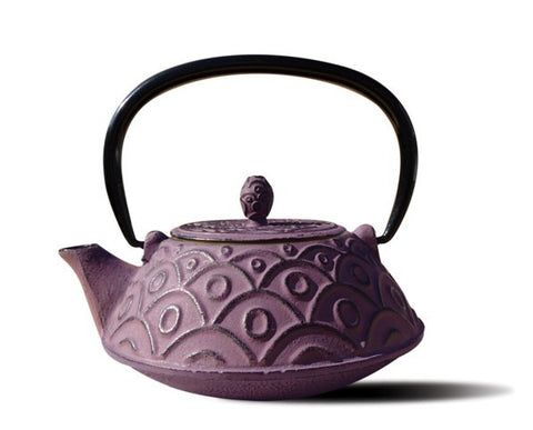 Greek Wine Cast Iron Kyoto Teapot 26 Oz - Old Dutch - Dropship Direct Wholesale