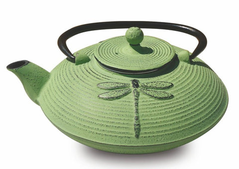 Light Green Cast Iron Placidity Teapot 26 Oz - Old Dutch - Dropship Direct Wholesale
