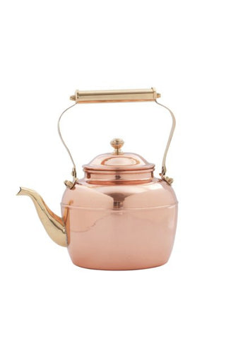 2.5 Qt. Solid Copper Teakettle w/Brass Handle - Old Dutch - Dropship Direct Wholesale