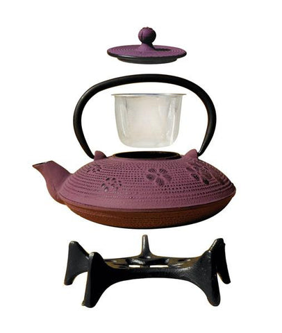 Greek Wine Cast Iron Kamakura Teapot with Stand 26 oz - Old Dutch - Dropship Direct Wholesale