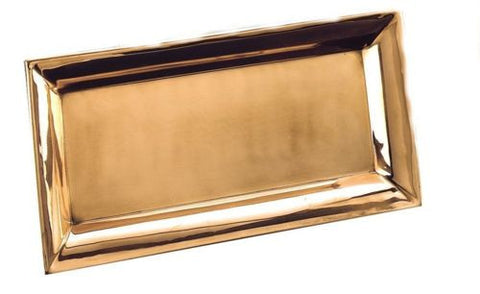 18 x 9.25 Heavy Gauge Decor Copper Rectangular Tray - Old Dutch - Dropship Direct Wholesale