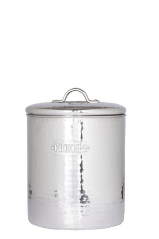 6.75 x 7.5 Stainless Steel Hammered Cookie Jar w/Fresh Seal Cover 4 Qt. - Old Dutch - Dropship Direct Wholesale