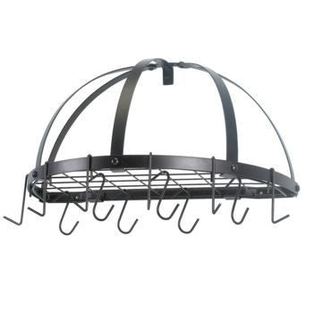 22 x 11.5 Oiled Bronze Pot Rack w/Grid & 12 Hooks - Old Dutch - Dropship Direct Wholesale