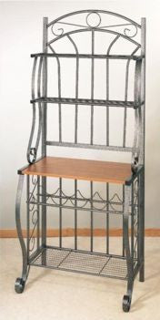 27.25 x 16 x 68 Pewter Bakers Rack w/Wine Rack - Old Dutch - Dropship Direct Wholesale