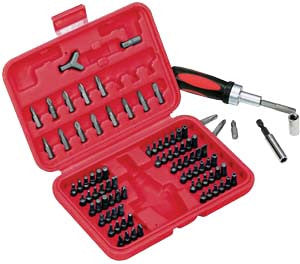 90 Piece Security Bit Set with Reversible Ratchet - ATD Tools - Dropship Direct Wholesale