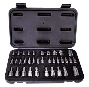 35 Pc. Torx Bit Set W/Case - ATD Tools - Dropship Direct Wholesale