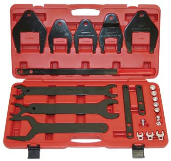 24-Piece Fan Clutch Remover/Installer Set with Serpentine Belt Tool and Accessories - ATD Tools - Dropship Direct Wholesale
