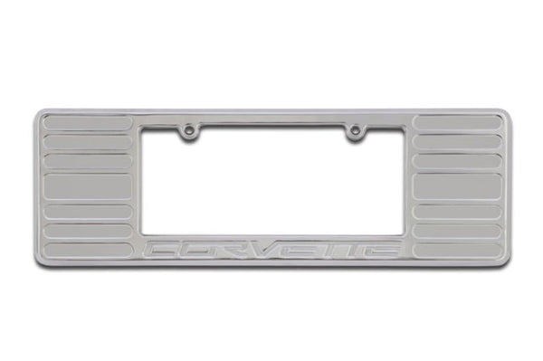 2005+ Chevrolet Corvette License Plate Frame Chrome - DefenderWorx - Dropship Direct Wholesale