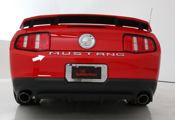 2010-13 Ford Mustang Trunk Letters Chrome - DefenderWorx - Dropship Direct Wholesale