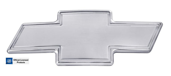All Sales Chevy Bowtie Grille Emblem W/Border- Polished - AMI - Dropship Direct Wholesale