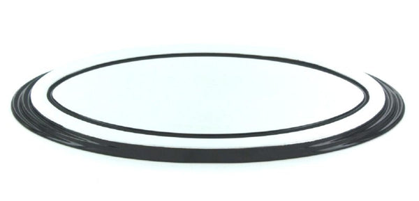All Sales Grille Emblem Oval Step Style Polished With Black Boarder 5 1/2 Length - AMI - Dropship Direct Wholesale