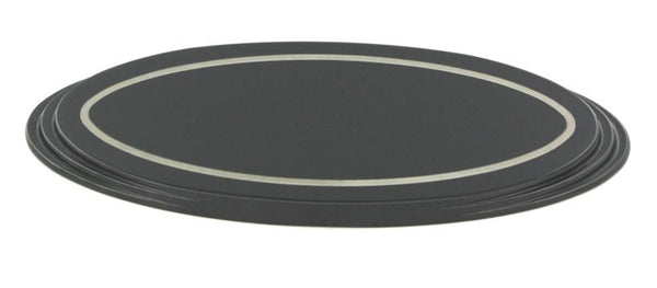 All Sales Tailgate Emblem Oval Step Style Black Powdercoated With Boarder 5 1/2 Length - AMI - Dropship Direct Wholesale