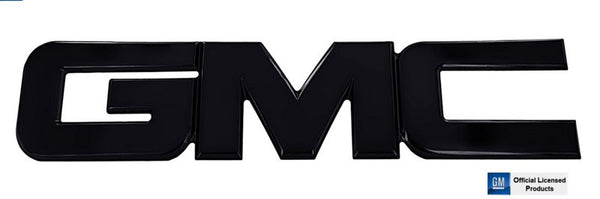 All Sales GMC Tailgate/Liftgate Emblem - Black Powercoat - AMI - Dropship Direct Wholesale
