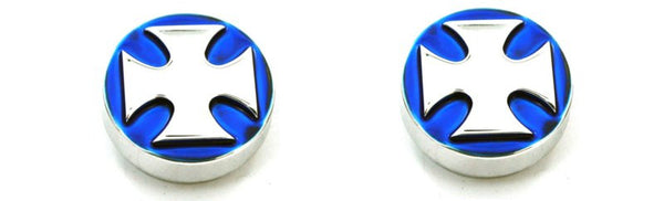 All Sales Interior Dash Knobs (set of 2)- Iron Cross Blue - AMI - Dropship Direct Wholesale