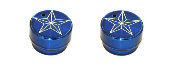 All Sales Interior Dash Knobs (set of 2)- Star Blue - AMI - Dropship Direct Wholesale