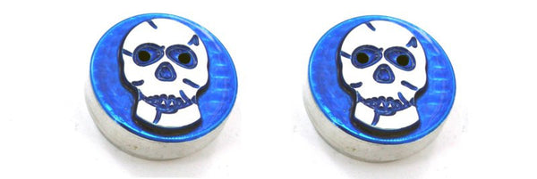 All Sales Interior Dash Knobs (set of 2)- Skull Blue - AMI - Dropship Direct Wholesale