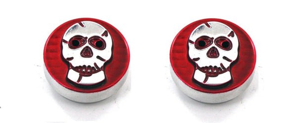 All Sales Interior Dash Knobs (set of 2)- Skull Red - AMI - Dropship Direct Wholesale