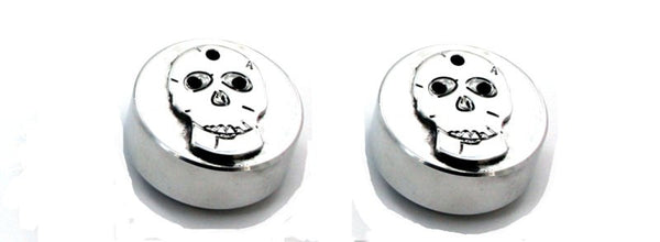 All Sales Interior Dash Knobs (set of 2)- Skull Polished - AMI - Dropship Direct Wholesale