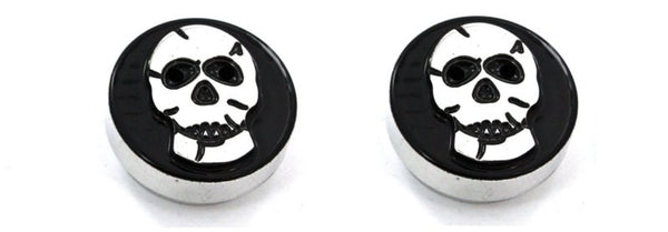 All Sales Interior Dash Knobs (set of 2)- Skull Black - AMI - Dropship Direct Wholesale