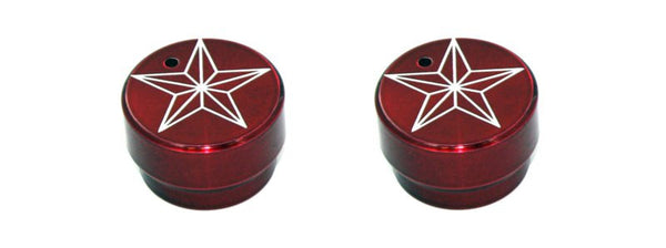 All Sales Interior Dash Knobs (set of 2)- Star Red - AMI - Dropship Direct Wholesale