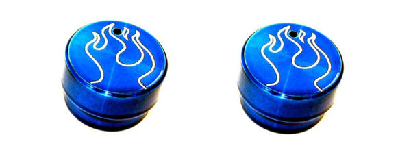 All Sales Interior Dash Knobs (set of 2)- Flame Blue - AMI - Dropship Direct Wholesale