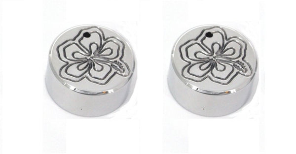 All Sales Interior Dash Knobs (set of 2)- Hibiscus Polished - AMI - Dropship Direct Wholesale