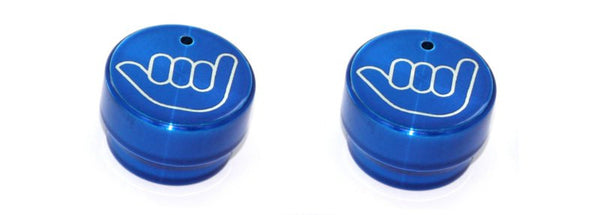 All Sales Interior Dash Knobs (set of 2)- Hang Loose Blue - AMI - Dropship Direct Wholesale