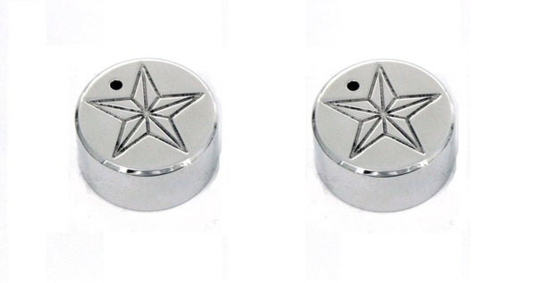 All Sales Interior Dash Knobs (set of 2)- Star Polished - AMI - Dropship Direct Wholesale