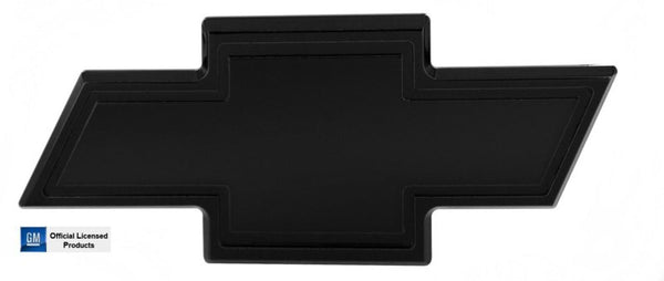 All Sales Chevy Bowtie Tailgate Emblem W/Border- Black Powdercoat - AMI - Dropship Direct Wholesale