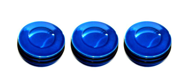 All Sales Interior Dash Knobs (set of 3)- O-ring Blue - AMI - Dropship Direct Wholesale