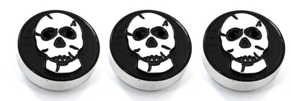 All Sales Interior Dash Knobs (set of 3)- Skull Black - AMI - Dropship Direct Wholesale