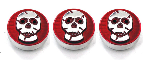 All Sales Interior Dash Knobs (set of 3)- Skull Red - AMI - Dropship Direct Wholesale
