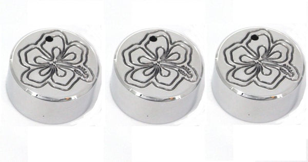 All Sales Interior Dash Knobs (set of 3)- Hibiscus Polished - AMI - Dropship Direct Wholesale