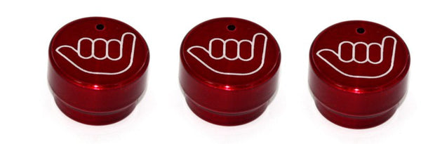 All Sales Interior Dash Knobs (set of 3)- Hang Loose Red - AMI - Dropship Direct Wholesale